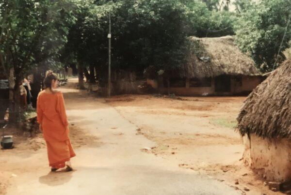 En un pequeño poblado de Trivandrum, India.